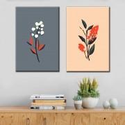 Kit quadros Decorativos Flores Minimalistas
