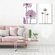 Kit Quadros Decorativos  Flores Roxas Liais