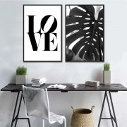 Kit Quadros Decorativos Frase Love