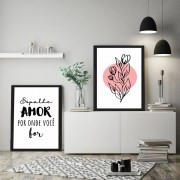 Kit Quadros Decorativos Frases Minimalistas