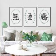 Kit Quadros Decorativos Frases Motivacionais