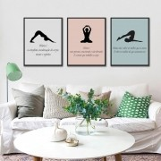 Kit Quadros Decorativos Frases Pilates
