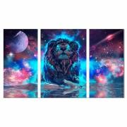 Kit Quadros decorativos Galaxia Leão
