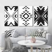 Kit Quadros Decorativos Geométrico Abstrato