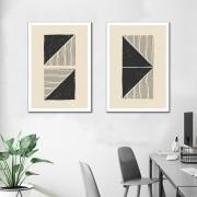 Kit quadros Decorativos Geométrico Minimalista