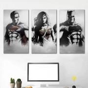 Kit quadros Decorativos Heróis DC
