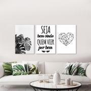 Kit Quadros Decorativos Home Preto e Branco