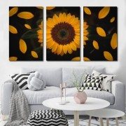 Kit Quadros Decorativos Lindo Girassol