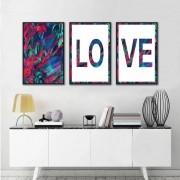 Kit Quadros Decorativos Love