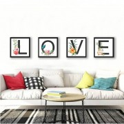 kit Quadros Decorativos love Amor
