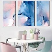 Kit Quadros Decorativos Mármore Abstrato