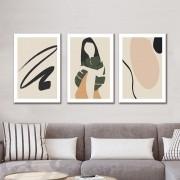 Kit Quadros Decorativos Minimalista Moderno