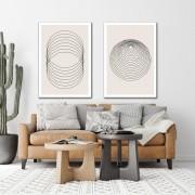 Kit Quadros Decorativos Minimalistas Geometricos