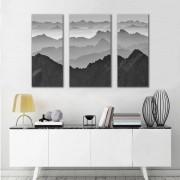 Kit Quadros Decorativos Montanhas Minimalistas