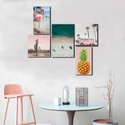 Kit Quadros Decorativos Verão Rose
