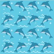 Papel de Parede Golfinhos Rolo de 0,60 x 3,00