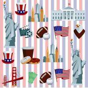 Papel De Parede Nova York USA Rolo de 0,60x3,00