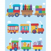 Papel De Parede Trem Infantil Para Sala e Quarto Rolo de 0,60 x 3,00