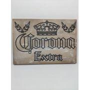 Placa Entalhada Cerveja Corona Recorte Mdf