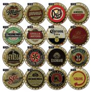 kit 10 Placas Decorativas Cervejas Bebidas Vintage Bar Retrô 36x36