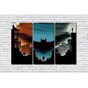 Placas Decorativas Super Herói Batman 3 peças