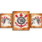 Quadro Corinthians vintage decorativo  3 peças