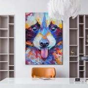 Quadro Decorativo Abstrato Animal Colorido