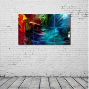Quadro Decorativo Abstrato Cores Escuras 1 peça