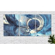 Quadro Decorativo Abstrato quarto casal azul