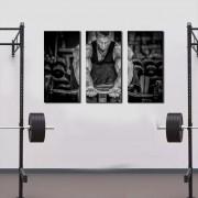 Quadro Decorativo Academia Esporte Musculação 3 Peças