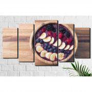 Quadro Decorativo Açai e Banana 5 peças