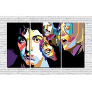 Quadro Decorativo Banda Rock The Beatles 3 peças