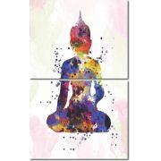 Quadro Decorativo Buda Colorido 2 peças