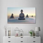 Quadro Decorativo Buda Na Areia