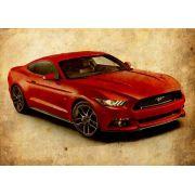Quadro Decorativo Carro Mustang Vintage Para Quarto