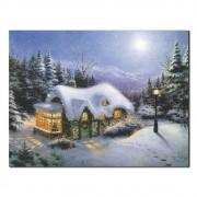 Quadro Decorativo Casa na Neve