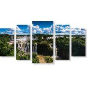 Quadro Decorativo Cataratas Do Iguaçu 5 peças