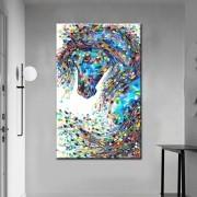 Quadro Decorativo Cavalo Colorido Abstrato