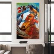 Quadro Decorativo Cavalo Índio