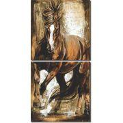 Quadro Decorativo Cavalo Marrom Moderno