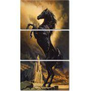 Quadro Decorativo Cavalo Negro na Noite