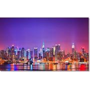 Quadro Decorativo Cidade New York Visto A Noite 1 Peça