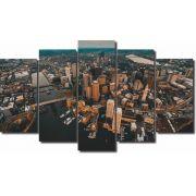 Quadro Decorativo Cidades de Luzes 5 peças