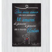 Quadro Decorativo Com Frases De Amor 1 Peça 20x30