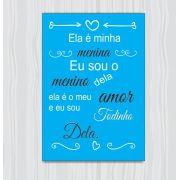 Quadro Decorativo Com Frases De Amor 1 Peça 20x30 M2