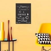 Quadro Decorativo Com Frases De Café 1 Peça 20x30