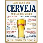 Quadro Decorativo Como Pedir Uma Cerveja