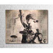 Quadro Decorativo Deusa da Justiça 1 peça