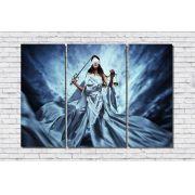 Quadro Decorativo Deusa da Justiça Themis 3 peças