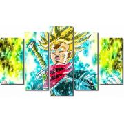 Quadro Decorativo Dragon Ball Goku Super Sayajin 5 Peça M21